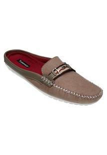 Sapato Mule Masculino Estilo Shoes Db112 Bege
