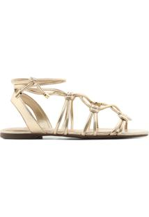 Sandália Tiras Dourada   Anacapri