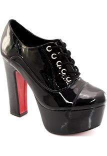 Ankle Boot Verniz Sapato Show - Feminino