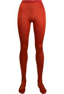 Wolford Meia-Calça Cintura Alta - Vermelho