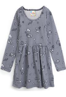 Vestido Brandili Infantil Estampado Cinza - Tricae