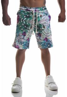 Bermuda Advance Clothing Estampada Summer Branca