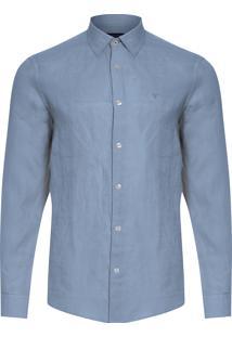 Camisa Masculina Linen Lisa - Azul