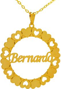 Gargantilha Horus Import Mandala Bernardo Banho Ouro Amarelo 18 K - 1060034
