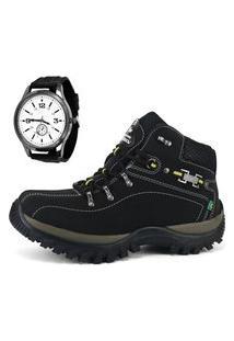 Bota Adventure Sw Shoes Com Relógio Preto.