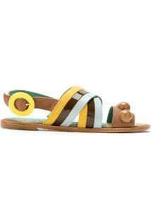 Blue Bird Shoes Sandália Rasteira Trancoso - Estampado