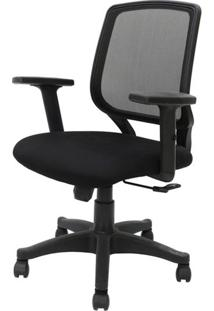 Cadeira Office Avila Cor Preto Encosto Tela Mesh Com Base Nylon - 45066 Sun House