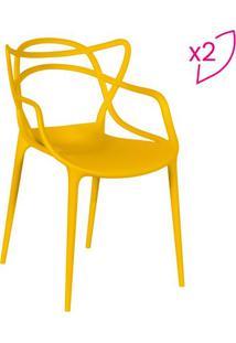Jogo De Cadeiras De Jantar Solna- Amarelo- 2Pçs-Or Design