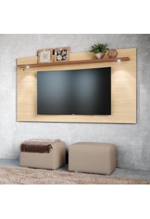 Painel Para Tv Até 65 Pol Colibri Astúrias 1 Prateleira