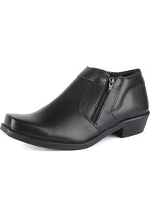 Bota Social Cr Shoes Com Ziper 14000 Preto