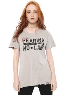 Camiseta Ellus Co Military Phrases Cinza - Cinza - Feminino - Algodã£O - Dafiti