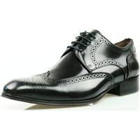 f312ee9dc Sapato Social Oxford Classico Couro Masculino - Masculino-Preto