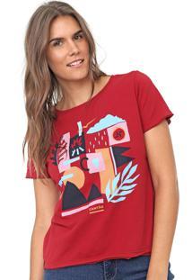 Camiseta Cantã£O Composiã§Ã£O Vermelha - Vermelho - Feminino - Algodã£O - Dafiti