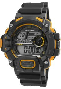 Relógio Masculino Mormaii Digital Mo1132Ae/8Y - Pr - Unissex-Preto
