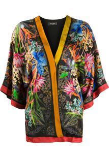 Etro Kimono Floral - Preto