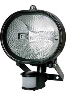 Refletor Halógeno 500W Bivolt Com Sensor De Presença Preto