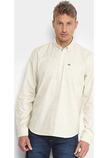 Camisa Lacoste Manga Longa Masculina - Masculino c47e9509bf