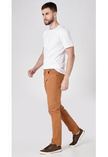 Calça Jeans Express Tradicional Color Mascavo Marrom