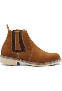 Bota Valente Boots Detalhe Lateral Cano Curto Masculina - Masculino-Marrom