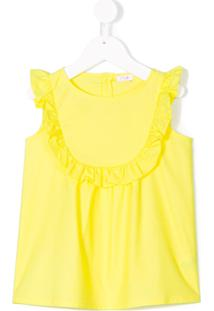 Il Gufo Blusa Com Acabamento De Babado - Amarelo