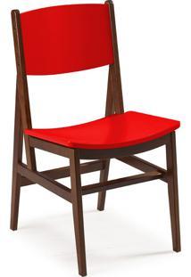 Cadeira Dumon 87 Cm 951 Cacau/Vermelho - Maxima
