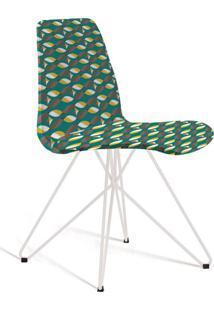 Cadeira De Jantar Eames Butterfly Branco E Verde