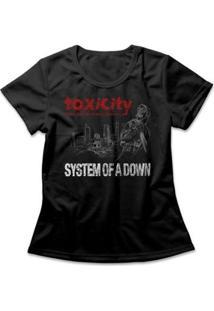 Camiseta System Of A Down Toxicity Feminina - Feminino-Preto