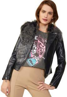 Jaqueta Leather Gola Fur