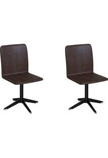 Conjunto Com 2 Cadeiras Raglan Tabaco E Preto