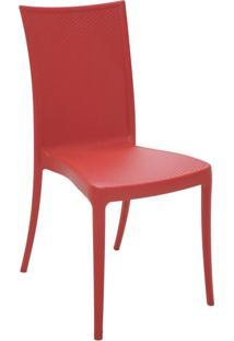Cadeira Laura Ratan Vermelha Tramontina