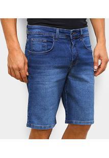Bermuda Jeans Quiksilver Every Lil Masculina - Masculino-Azul Escuro