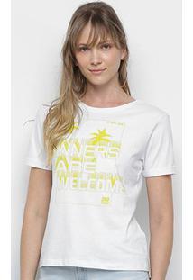 Camiseta Ellus 2Nd Floor Sinners Are Welcome Feminina - Feminino