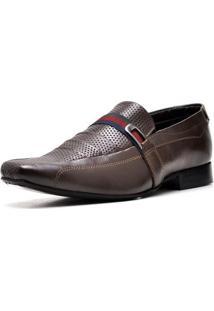 Sapato Executivo Top Franca Shoes Masculino - Masculino-Cafe