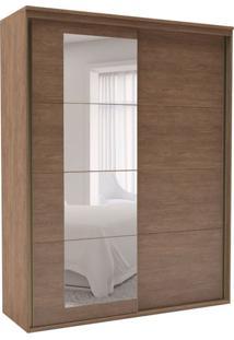 Guarda-Roupa Solteiro Eleganza Com Espelho 2 Pt 3 Gv Ébano