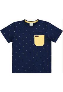 Camiseta Polo Alakazoo Azul Marinho