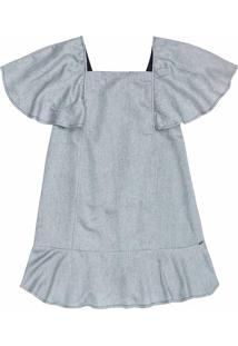 Vestido Infantil Metalizado