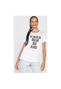 Camiseta Colcci Brilho Branca