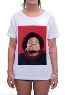 Camiseta Estampada Impermanence Michael Jackson Branca