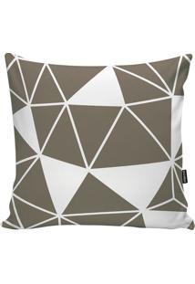 Capa Para Almofada Geometric- Taupe & Branca- 45X45Cstm Home