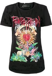 Philipp Plein Camiseta Love That Hurts - Preto