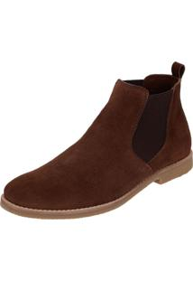 Bota Chelsea Masculina Mr Shoes Camurça Café