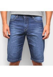 Bermuda Jeans Aleatory Masculina - Masculino-Azul