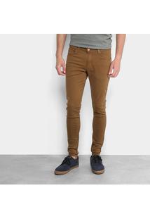 Calça Sarja Ecko Skinny Color Masculina - Masculino-Marrom