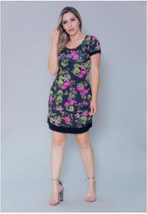 Vestido Imagivan Curto Feminino - Feminino-Preto