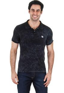 Camisa Polo Masculina Urbany - Preto
