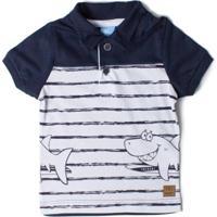 1e1b93e3e1 Camisa Polo Algodao Branca infantil