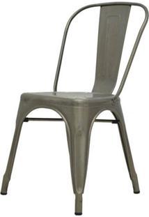 Cadeira Iron Tolix Sem Braco Vintage Aco Fosco
