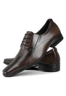Sapato Social Masculino Cadarço Fosco Caramelo La Faire