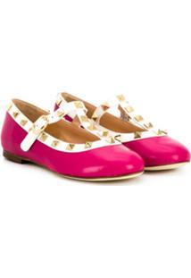 Prosperine Kids Studded Ballerina Shoes - Rosa