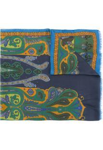 Etro Echarpe Com Estampa Paisley - Azul